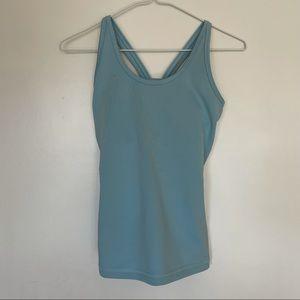 3/$30 lotuswear light blue athletic tank size 0